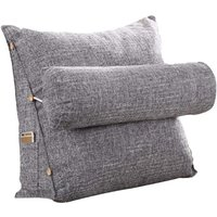 Cotton and linen cushions - Triangular headrest back - For sofa, office chair, bed