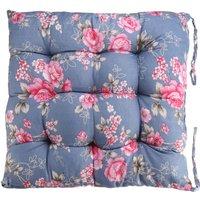 Cotton Chair Pad Thicker Cushion Office Seat Mat 40x40cm Blue
