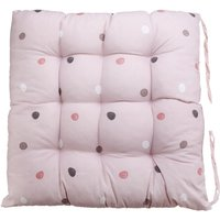 Cotton Chair Pad Thicker Cushion Office Seat Mat 40x40cm Pink
