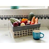 Cotton Rope Metal Frame Strong Storage Basket Hamper Shelf Organise With Lining[Medium 35 x 25 x 14 cm,Beige]