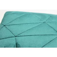 COUNTRY CLUB Alexa Velvet Quilted Bedspread Soft Throw Over Double/King Size Green 240x260cm
