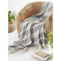 COUNTRY CLUB Diamond Throw Over Blanket Bed/Sofa Accessory Grey 120x150cm, 120 X 150 cm
