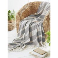 COUNTRY CLUB Diamond Throw Over Blanket Bed/Sofa Accessory Navy 170x200cm, Grey