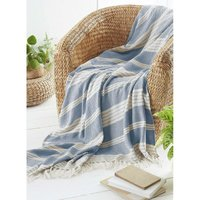 Beamfeature - COUNTRY CLUB Diamond Throw Over Blanket Bed/Sofa Accessory Navy 200x240cm
