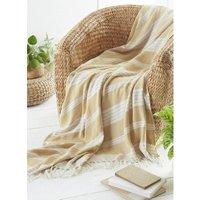 Diamond Throw Over Blanket Bed/Sofa Accessory Ochre 200x240cm - Country Club