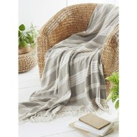Diamond Throw Over Blanket Bed/Sofa Accessory Stone 200x240cm - Country Club