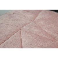 COUNTRY CLUB Embossed Geometric Bedspread - Blush Pink (240 x 260cm)