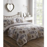 Country Diary Lavender Super King Size Duvet Cover Set Patchwork Bedding - BEDMAKER