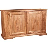 Country -style solid lime wood natural finish W180xDP58xH105 cm sized sideboard. Made in Italy - BISCOTTINI