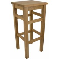 Crafty Oak Solid Wood Bar Stool Fully Assembled Made To Measure Height Option BlackBrownCream Wood 35 cm 35 cm Brown Made to Measure Waxed