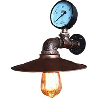 Creative Classic Faucet Wall Light Retro Water Tap Chandelier Metal Iron Wall Lamp for Cafe Bar Club Rust