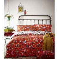 Pomelo Duvet Cover Set (King) (Orange) - Creative Cloth