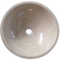 Grand Taps - Crema Marfil Marble Wash Basin Bowl Bathroom 300mm diameter (B0071)