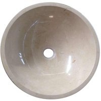 Grand Taps - Crema Marfil Marble Wash Basin Bowl Bathroom 350mm diameter (B0070)