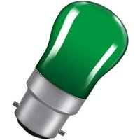 Crompton Lamps 15W Pygmy BC-B22d Dimmable Green BC Bayonet B22 Incandescent Sign Traditional Coloured Outdoor External Festoon Light Bulb