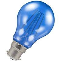 Crompton Lamps LED GLS 4.5W BC-B22d Harlequin IP65 (25W Equivalent) Blue Translucent BC Bayonet B22 A60 Outdoor Festoon Coloured Filament Light Bulb