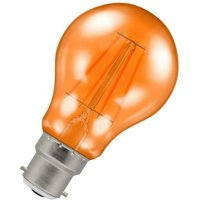 Lamps LED GLS 4.5W BC-B22d Harlequin IP65 (25W Equivalent) Orange Translucent BC Bayonet B22 A60 Outdoor Festoon Coloured Filament Light Bulb