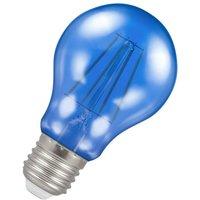 Crompton Lamps LED GLS 4.5W ES-E27 Harlequin IP65 (25W Equivalent) Blue Translucent ES Screw E27 A60 Outdoor Festoon Coloured Filament Light Bulb