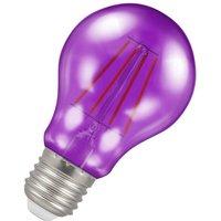Crompton Lamps LED GLS 4.5W ES-E27 Harlequin IP65 (25W Equivalent) Purple Translucent 300lm ES Screw E27 Outdoor Festoon Coloured Filament Light Bulb