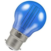 Lamps LED Golfball 4.5W BC-B22d Harlequin IP65 (25W Equivalent) Blue Translucent 90lm BC Bayonet B22 Round Outdoor Festoon Coloured Filament Light