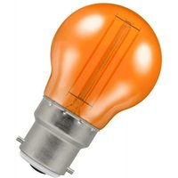 Lamps LED Golfball 4.5W BC-B22d Harlequin IP65 (25W Equivalent) Orange Translucent BC Bayonet B22 Round Outdoor Festoon Coloured Filament Light Bulb