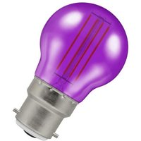 Lamps LED Golfball 4.5W BC-B22d Harlequin IP65 (25W Equivalent) Purple Translucent 300lm BC Bayonet B22 Round Outdoor Festoon Coloured Filament Light