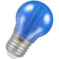 (1 Pack) Lamps LED Golfball 4.5W ES-E27 Harlequin IP65 (25W Equivalent) Blue Translucent ES Screw E27 Round Outdoor Festoon Coloured Filament Light