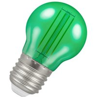 Lamps LED Golfball 4.5W ES-E27 Harlequin IP65 (25W Equivalent) Green Translucent 515lm ES Screw E27 Round Outdoor Festoon Coloured Filament Light