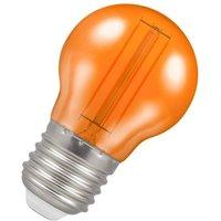 Lamps LED Golfball 4.5W ES-E27 Harlequin IP65 (25W Equivalent) Orange Translucent 255lm ES Screw E27 Round Outdoor Festoon Coloured Filament Light