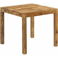 Dining Table Solid Mango Wood 82x80x76 cm - Brown - Vidaxl