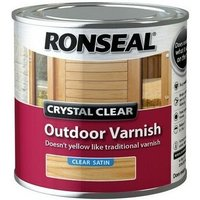 Ronseal 37364 Crystal Clear Outdoor Varnish Satin 250ml
