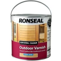 Ronseal 37366 Crystal Clear Outdoor Varnish Satin 2.5 Litre
