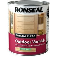 37369 Crystal Clear Outdoor Varnish Matt 2.5 Litre - Ronseal