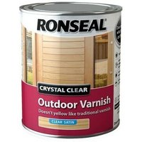 Ronseal 37365 Crystal Clear Outdoor Varnish Satin 750ml