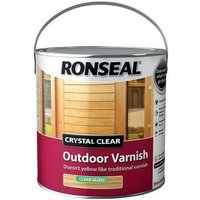 Ronseal 37368 Crystal Clear Outdoor Varnish Matt 750ml
