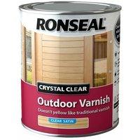 Crystal Clear Outdoor Varnish Satin 750ml (RSLCCODVS750)