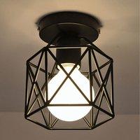 Stoex - Modern Ceiling Light Antique Chandelier Metal Industrial Ceiling Lamp Retro Chandelier Creative Black E27