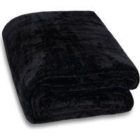 Cuddle TV Sofa Blanket Day Bed Throw Snuggle Cosy Cuddly Soft Fleece 200x150 - schwarz (de) - MONZANA