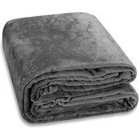 Cuddle TV Sofa Blanket Day Bed Throw Snuggle Cosy Cuddly Soft Fleece 200x150 - dunkelgrau (de) - MONZANA
