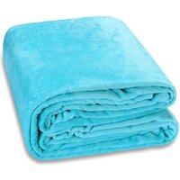 Cuddle TV Sofa Blanket Day Bed Throw Snuggle Cosy Cuddly Soft Fleece 200x150 - hellblau (de) - MONZANA