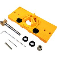 Cup Style Concealed Hinge Jig Guide Set Boring Hole Template 35mm Forstner Drill,model: 1 kit