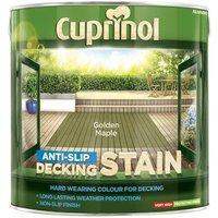 Anti-Slip Decking Stain Golden Maple 2,5 Litre (CUPUTDSGM25L) - CUPRINOL