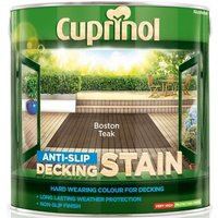 Anti Slip Decking Stain - Boston Teak - 2.5 Litre - Cuprinol