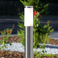 Cylindrical path lamp Kristof, stainless steel - LINDBY