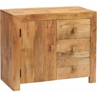 Verty Furniture - Dakota Light Mango 3 Drawer Sideboard - Light Wood