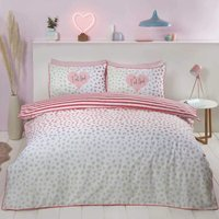 Dalmation Blush Single Duvet Cover Set Bedding Bed Quilt Set
