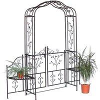 DanDiBo Arche à Roses 18602 en métal Fer forgé avec Portail 215 x 210 Portail de Jardin