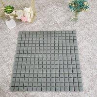 Livingandhome - Dark Grey Bath Shower Mat Anti Non Slip PVC Safety Suction Mats 53.5 x 53.5 cm