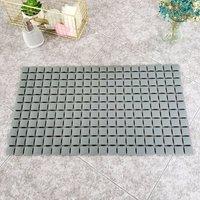 Dark Grey Bath Shower Mat Anti Non Slip PVC Safety Suction Mats 38.5 x 68 cm