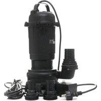Hucoco - DCRAFT | Pompe submersible à eau avec broyeur | Débit 25000l | Puissance 3200W | Hermétique l Pompe évacuation eaux - Noir